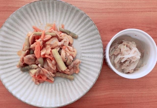 彩り野菜のケチャップ炒め完成品