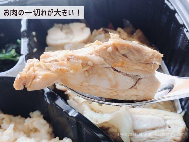 カオマンガイの肉ズームイン